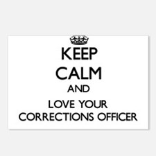 Keep Calm and Love your Corrections Officer Postca