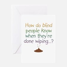 BlindWipeOnWhite Greeting Cards