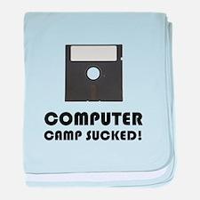 Computer Camp Sucked baby blanket