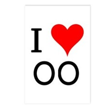 I Love OO Postcards (Package of 8)