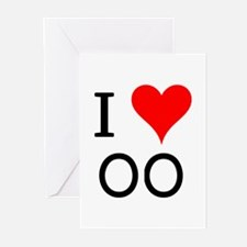 I Love OO Greeting Cards (Pk of 10)