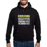 Exercise Dark Hoodies