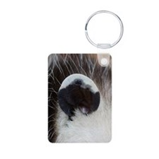 Opossum Ear Aluminum Photo Keychain