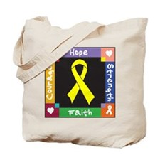 Ewing Sarcoma Courage Tote Bag
