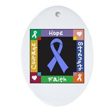 Esophageal Cancer Courage Ornament (Oval)
