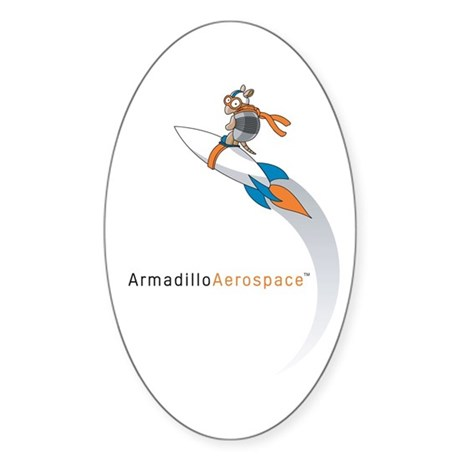 Armadillo Aerospace Oval Sticker