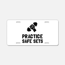 Practice Safe Sets Aluminum License Plate