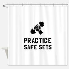 Practice Safe Sets Shower Curtain