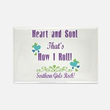 Southern Girls Rectangle Magnet