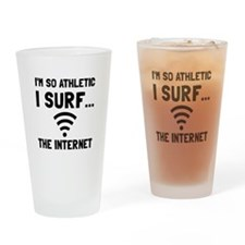 Surf The Internet Drinking Glass