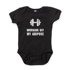 Working Off My Adipose Baby Bodysuit