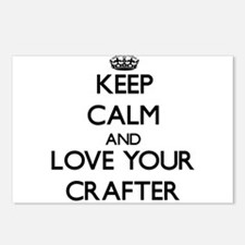 Keep Calm and Love your Crafter Postcards (Package