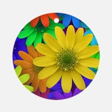 Colorful Daisies Ornament (Round)
