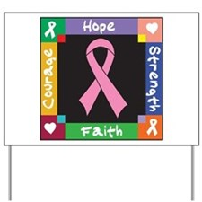 Breast Cancer Courage Yard Sign