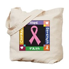 Breast Cancer Courage Tote Bag