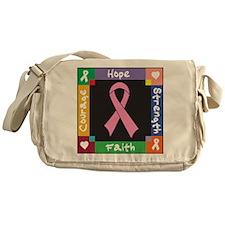 Breast Cancer Courage Messenger Bag