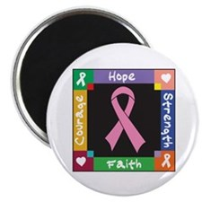 "Breast Cancer Courage 2.25"" Magnet (100 pack)"