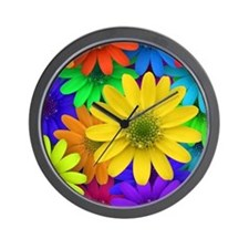 Colorful Daisies Wall Clock