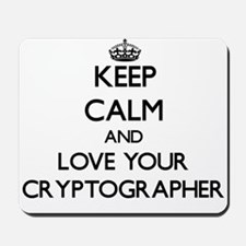 Keep Calm and Love your Cryptographer Mousepad