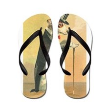 Whimsical Gifts Jack russell smoking dog Flip Flop