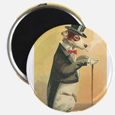 Whimsical Gifts Jack russell smoking dog Magnets