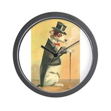 Whimsical Gifts Jack russell smoking dog Wall Cloc