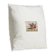 Bird-300-jpg Burlap Throw Pillow