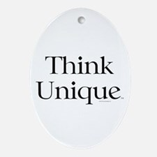 Think Unique Ornament (Oval)