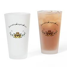 Irish Claddagh Drinking Glass