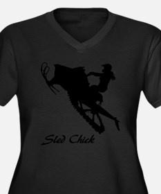 Sled Chick Plus Size T-Shirt