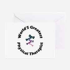 World's Greatest PT (black) Greeting Cards (Packag