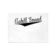 Achill Sound, Retro, 5'x7'Area Rug
