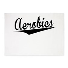 Aerobics, Retro, 5'x7'Area Rug