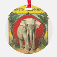 vintage white elephant whimsical gifts Ornament