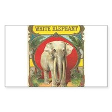 vintage white elephant whimsical gifts Decal