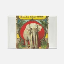 vintage white elephant whimsical gifts Magnets
