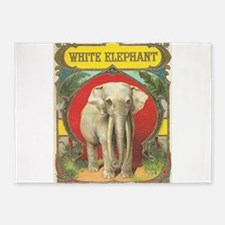vintage white elephant whimsical gifts 5'x7'Area R