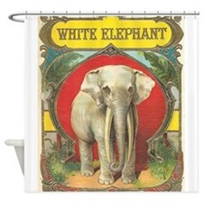 vintage white elephant whimsical gifts Shower Curt