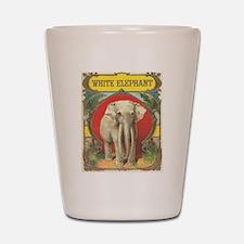 vintage white elephant whimsical gifts Shot Glass