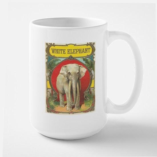vintage white elephant whimsical gifts Mugs