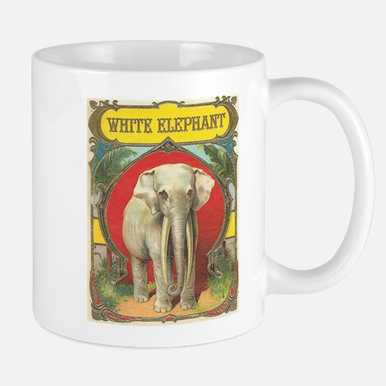 vintage white elephant whimsical gifts Mugs