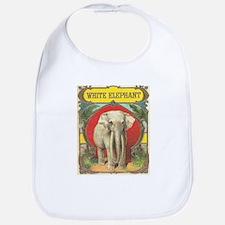 vintage white elephant whimsical gifts Bib