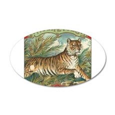Vintage Tiger Picture Wall Decal