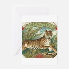 Vintage Tiger Picture Greeting Cards