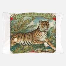 Vintage Tiger Picture Pillow Case