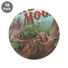 """vintage Moose gifts 3.5"""" Button (10 pack)"""