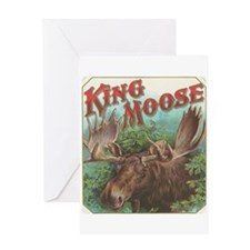 vintage Moose gifts Greeting Cards