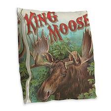 vintage Moose gifts Burlap Throw Pillow