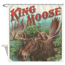 vintage Moose gifts Shower Curtain