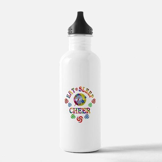Eat Sleep Cheer Water Bottle